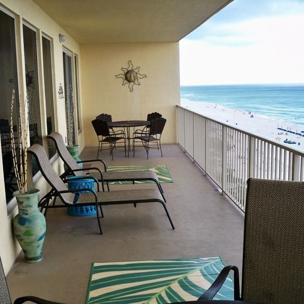Unit 603 balcony with view of the Gulf