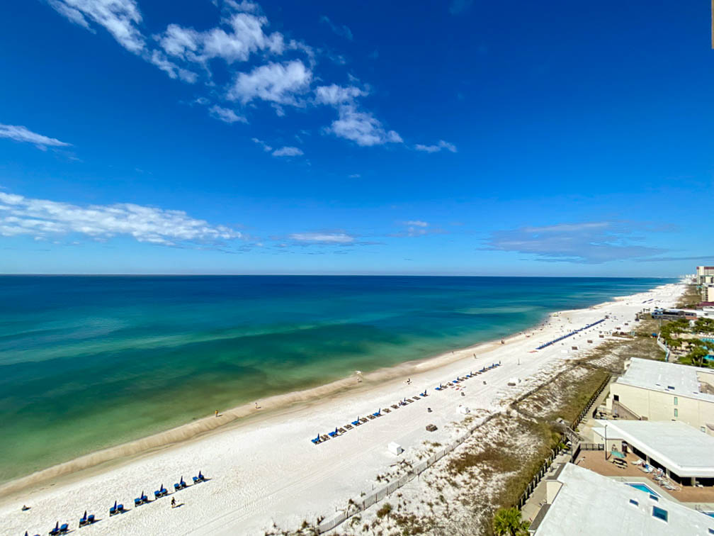 view of beach and Gulf of Mexico