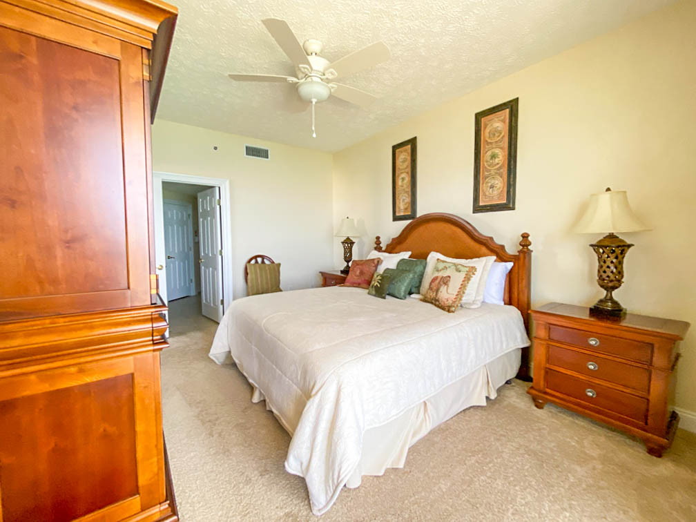 bedroom with armoire