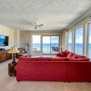 wrap around Gulf view in living room