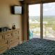 tv in bedroom with view