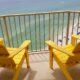 adirondack chairs on balcony
