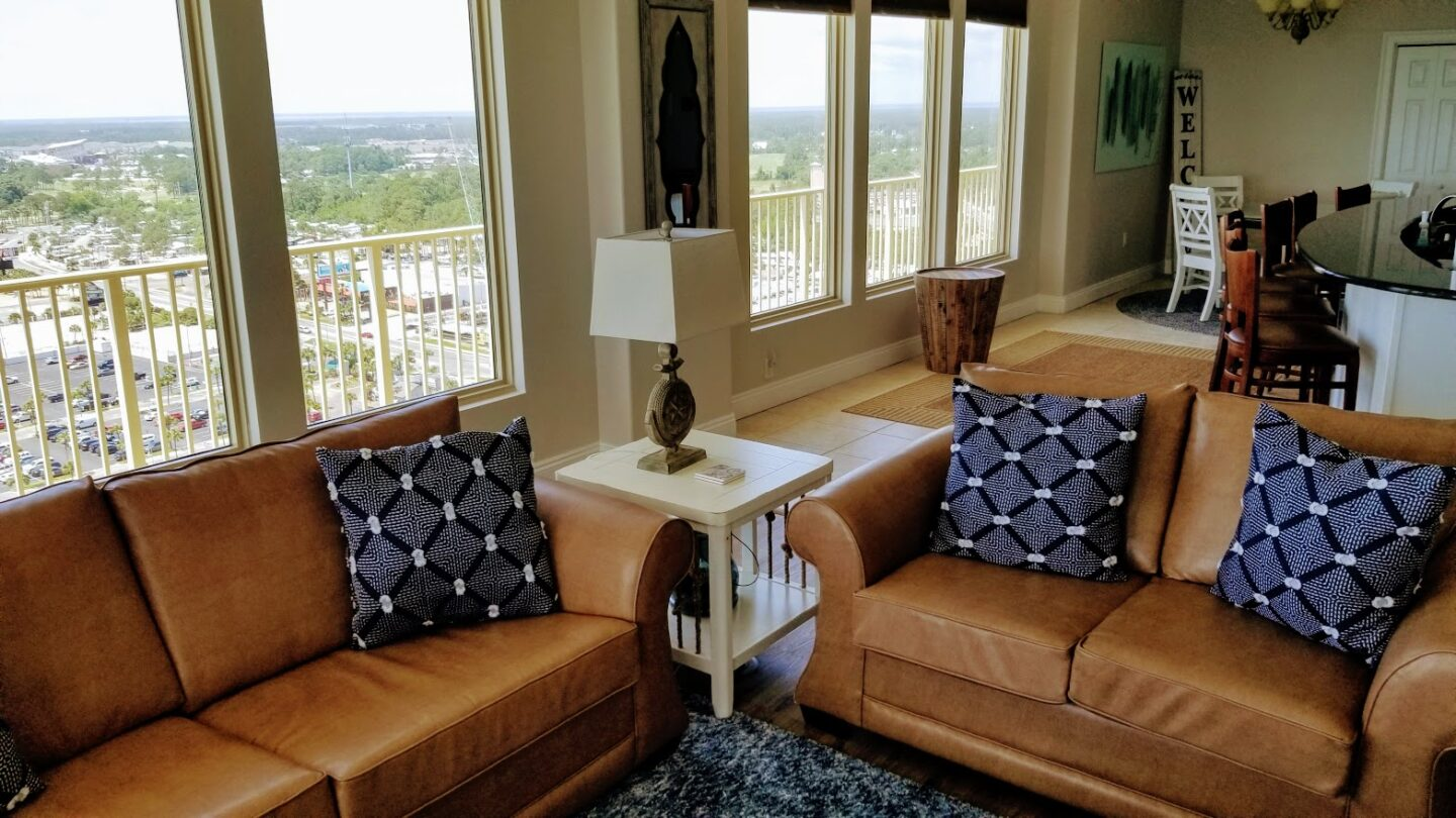 seating area in living room
